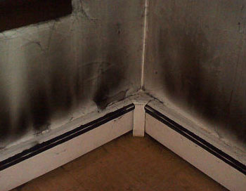 Smoke damage in the home